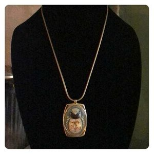Whiting & Davis Scarab Egyptian Necklace 1960's